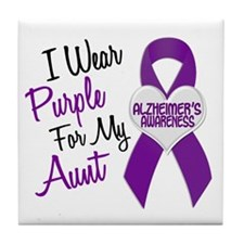 I Wear Purple For My Aunt 18 (AD) Tile Coaster