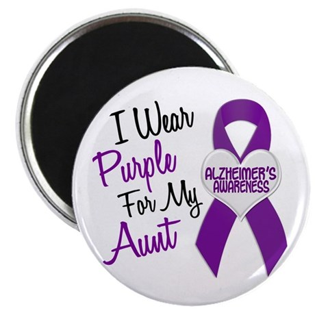 I Wear Purple For My Aunt 18 (AD) Magnet