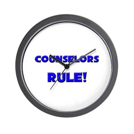 Counselors Rule! Wall Clock
