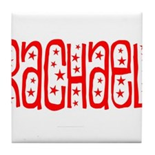 Red and White Stars Tile Coaster