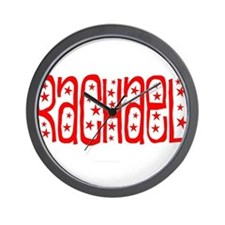 Red and White Stars Wall Clock