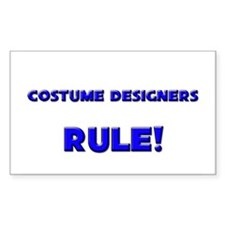 Costume Designers Rule! Rectangle Decal