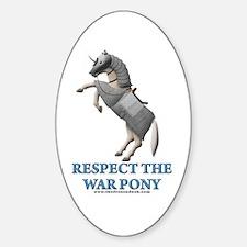 War Pony Oval Decal