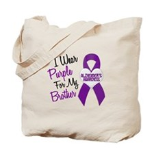 I Wear Purple For My Brother 18 (AD) Tote Bag