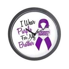 I Wear Purple For My Brother 18 (AD) Wall Clock