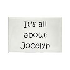 Cute Jocelyn Rectangle Magnet