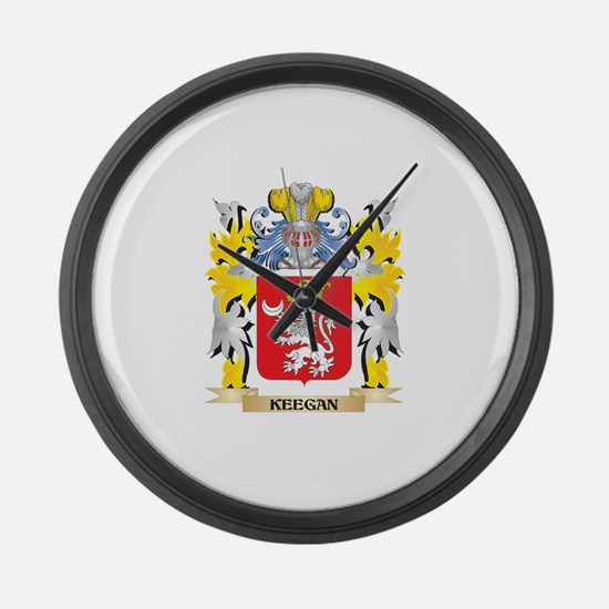 Keegan Coat of Arms - Family Cres Large Wall Clock