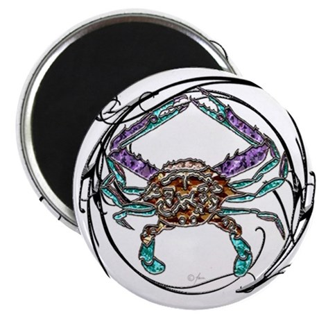 "Gem Blue Crab 2.25"" Magnet (10 pack)"