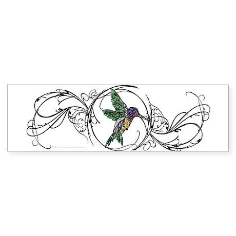 Gem Hummingbird Bumper Sticker