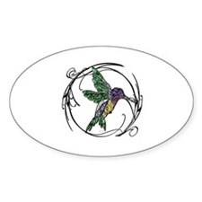 Gem Hummingbird Oval Decal