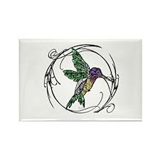 Gem Hummingbird Rectangle Magnet