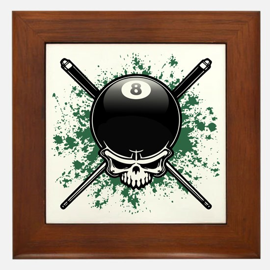 Pool Pirate II splat Framed Tile