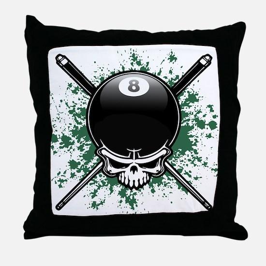 Pool Pirate II splat Throw Pillow