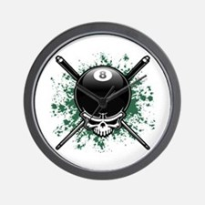 Pool Pirate II splat Wall Clock