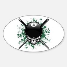 Pool Pirate II splat Oval Decal