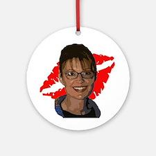 Sarah Palin Lipstick Ornament (Round)