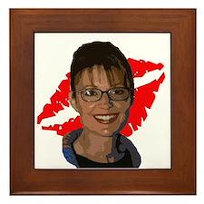 Sarah Palin Lipstick Framed Tile