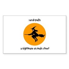 Palin Nightmare on Main St. Rectangle Decal