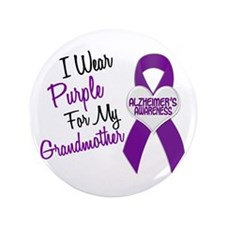 """I Wear Purple For My Grandmother 18 (AD) 3.5"""" Butt"""
