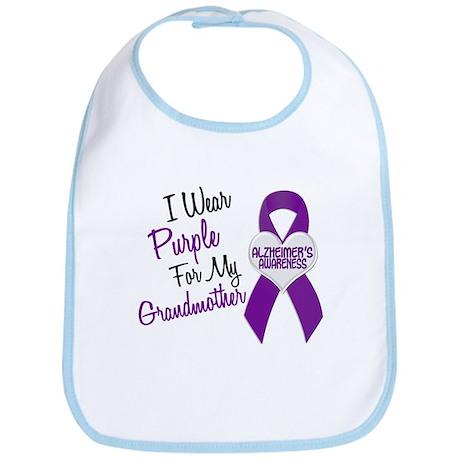 I Wear Purple For My Grandmother 18 (AD) Bib
