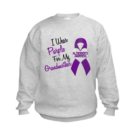 I Wear Purple For My Grandmother 18 (AD) Kids Swea