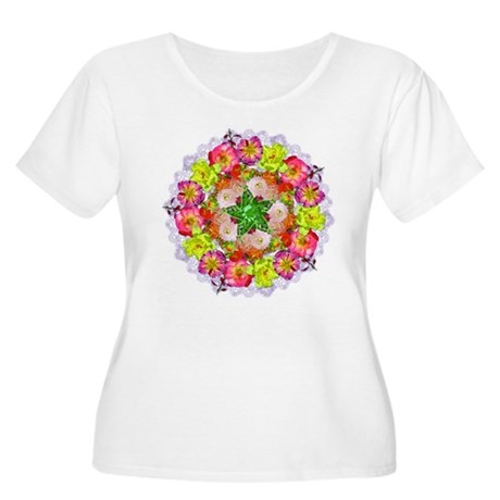 Kaleidoscope Women's Plus Size Scoop Neck T-Shirt