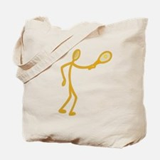 Stick Figure Tennis Tote Bag