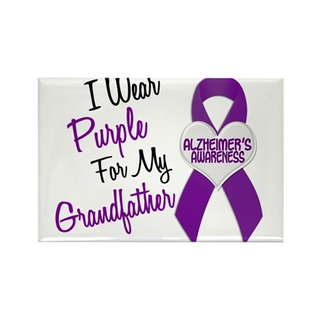 I Wear Purple For My Grandfather 18 (AD) Rectangle