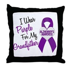 I Wear Purple For My Grandfather 18 (AD) Throw Pil