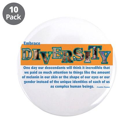 "Diversity 3.5"" Button (10 pack)"