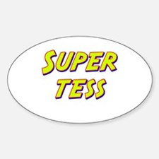 Super tess Oval Decal