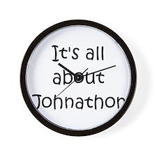 Cute Johnathon name Wall Clock