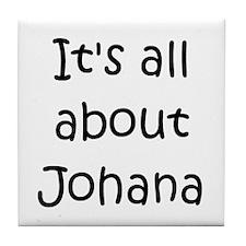 Funny Johana Tile Coaster