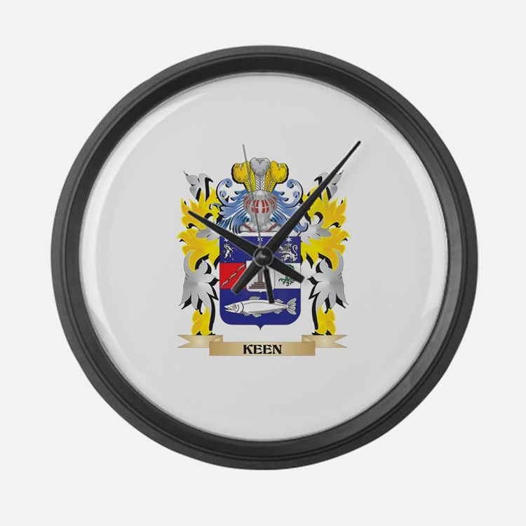 Keen Coat of Arms - Family Crest Large Wall Clock