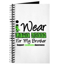 I Wear Lime Green For My Brother Journal