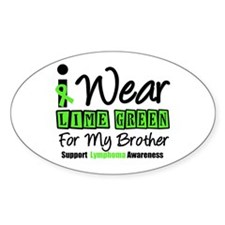 I Wear Lime Green For My Brother Decal