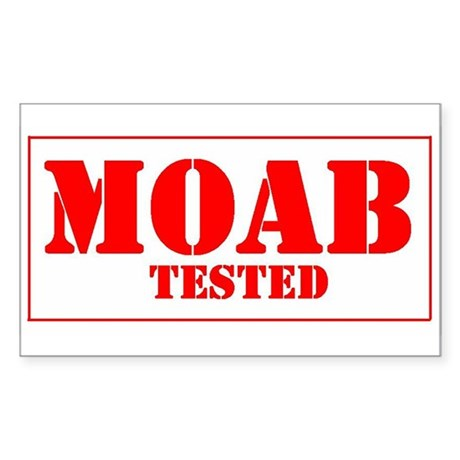 Moab Tested Rectangle Sticker