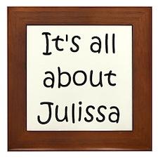 Funny Julissa Framed Tile
