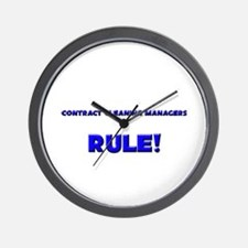 Contract Cleaning Managers Rule! Wall Clock