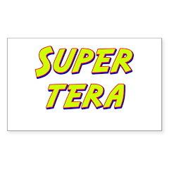 Super tera Rectangle Decal