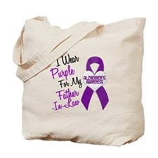 I Wear Purple For My Father-In-Law 18 (AD) Tote Ba