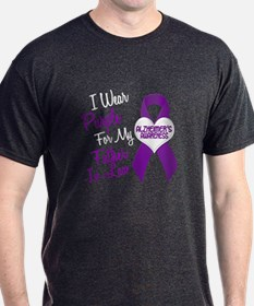 I Wear Purple For My Father-In-Law 18 (AD) T-Shirt