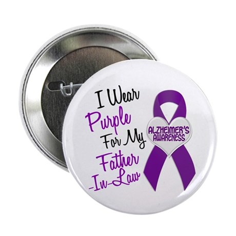 "I Wear Purple For My Father-In-Law 18 (AD) 2.25"" B"