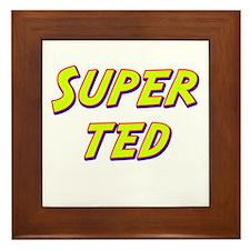 Super ted Framed Tile