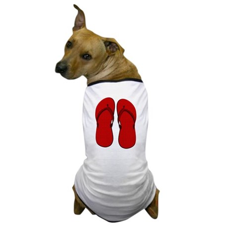 Red Flip Flops Dog T-Shirt