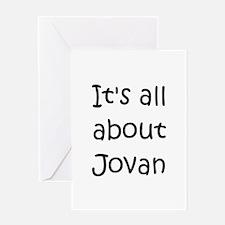 Cute Jovan Greeting Card