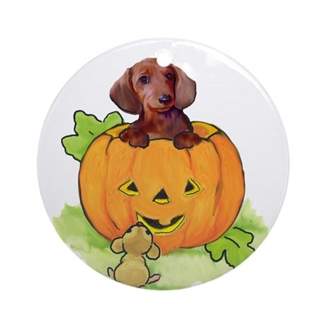Wiener dog halloween Ornament (Round)