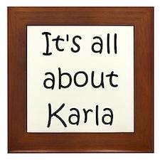 Cool Karla Framed Tile