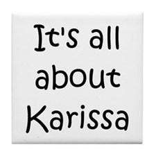 Funny Karissa Tile Coaster
