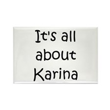 Funny Karina Rectangle Magnet
